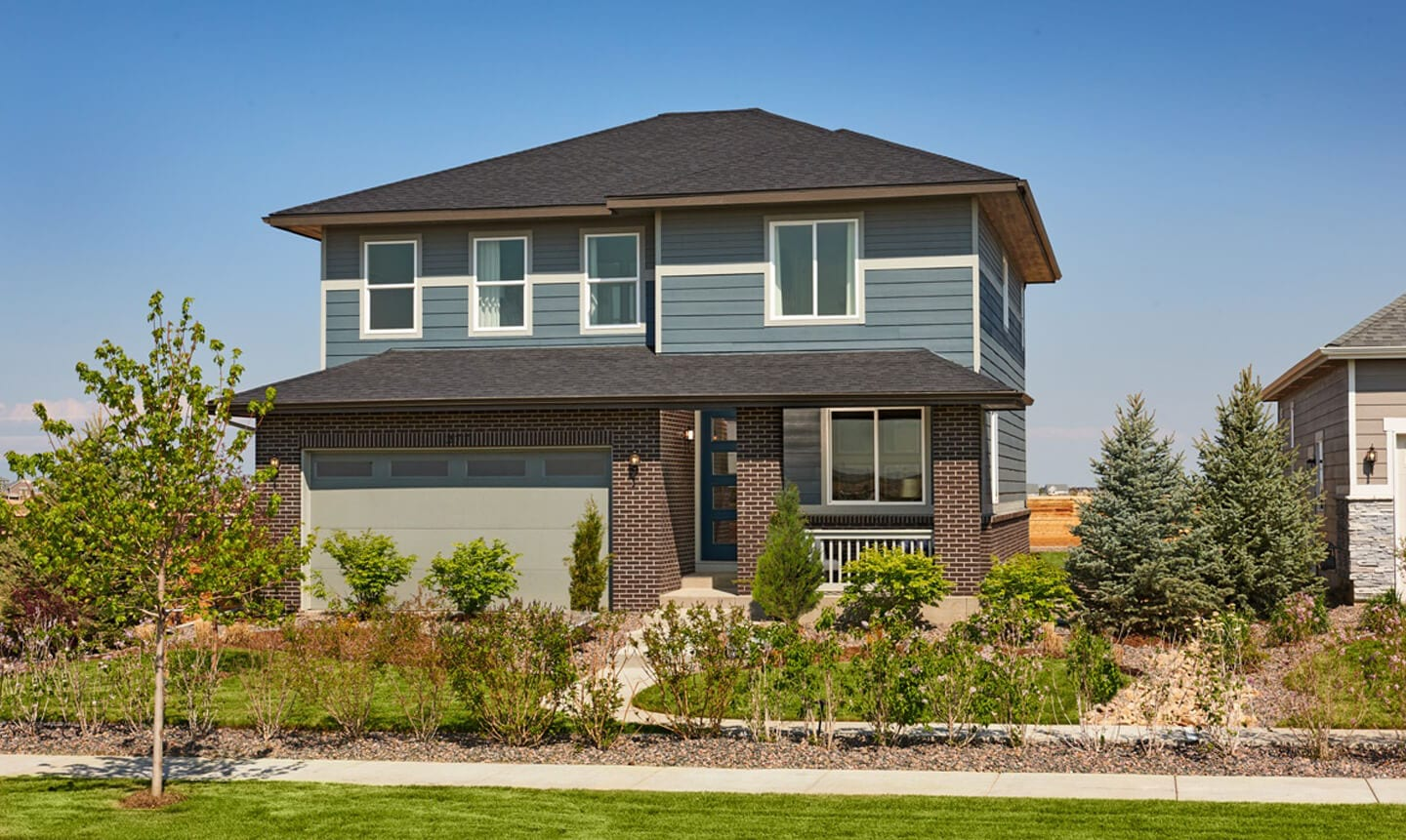 A brand new Richmond American Homes two storey home in Harmony.